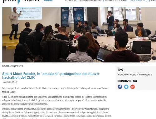 Articolo sulla mia Masterclass al Politecnico di Torino