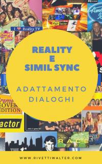 Adattamento Dialoghi reality e simil sync